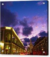Sunset It Campeche City Downtown Acrylic Print