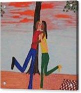 Sunset Kiss Acrylic Print