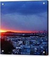 Sunset La Defense Paris France Acrylic Print