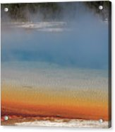 Sunset Lake In Black Sand Basin Yellowstone National Park Acrylic Print