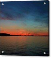 Sunset Lake Superior Acrylic Print