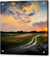 Sunset Lane Acrylic Print