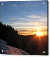 Sunset Leaving Yosemite Acrylic Print