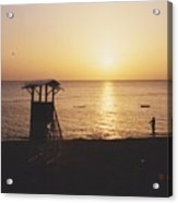 Sunset Life Guard Acrylic Print