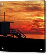 Sunset Lifeguard Station Series Acrylic Print