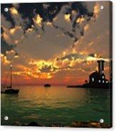 Sunset Lighthouse Acrylic Print by Jim Coe