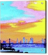 Sunset Lower Manhattan 2c5 Acrylic Print