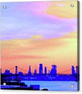 Sunset Lower Manhattan 2c2 Acrylic Print