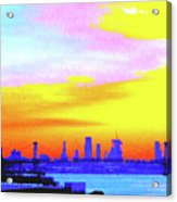 Sunset Lower Manhattan 2c3 Acrylic Print