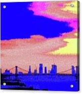 Sunset Lower Manhattan 2c7 Acrylic Print
