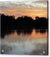 Sunset, Luangwa River, Zambia Acrylic Print