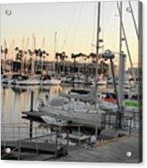 Sunset Marina Del Ray Marina Acrylic Print