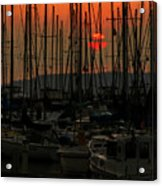 Sunset Marina Acrylic Print