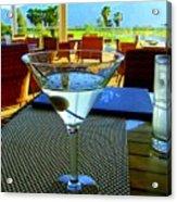 Sunset Martini Acrylic Print by Randall Weidner