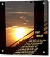Sunset Moments IIi Acrylic Print