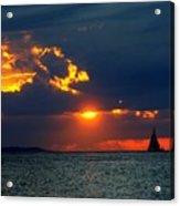 Sunset Montauk Ny Acrylic Print
