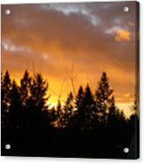 Sunset My Front Yard Acrylic Print