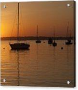 Sunset Newport Boats Acrylic Print
