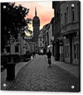 Sunset Of Castle Church Acrylic Print