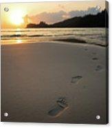 Sunset On A Beach Acrylic Print