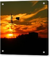 Sunset On A Windmill Jal New Mexico Acrylic Print