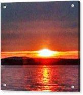 Sunset On A Yacht  Acrylic Print