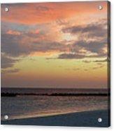 Sunset On An Idyllic Island In Maldives Acrylic Print