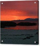Sunset On Arisaig Acrylic Print