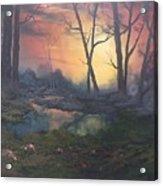 Sunset On Cannock Chase  Acrylic Print