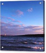 Sunset On Cayuga Lake Ithaca Acrylic Print