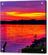 Sunset On Crab Orchard Acrylic Print