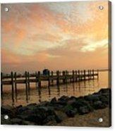 Sunset On Dewey Bay Acrylic Print