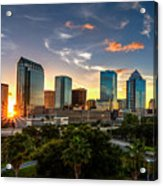 Sunset On Downtown Tampa Acrylic Print