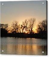 Sunset On Elk Acrylic Print