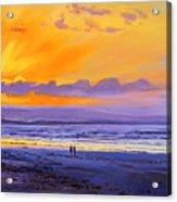 Sunset On Enniscrone Beach County Sligo Acrylic Print