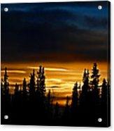 Sunset On Fairbanks - Alaska Acrylic Print