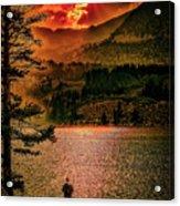 Sunset On Fire Acrylic Print