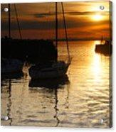 Sunset On Fisherrow Acrylic Print