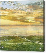 Sunset On Hobie Cat Beach, Siesta Key, Access 8 Acrylic Print