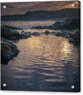 Sunset On Iceland Acrylic Print