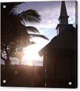 Sunset On Kona Church  Acrylic Print