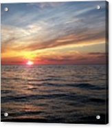 Sunset On Lake Erie Acrylic Print