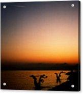 Sunset On Lake Geneva Acrylic Print
