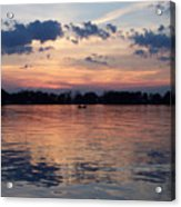 Sunset On Lake Mattoon Acrylic Print