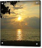 Sunset On Lake Michigan Acrylic Print by Trina Prenzi