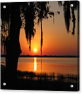 Sunset On Lake Minneola Acrylic Print