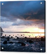 Sunset On Le Morne Acrylic Print