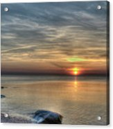 Sunset On Long Island Sound Acrylic Print