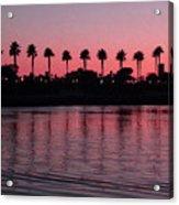 Sunset On Long Beach Bay Acrylic Print
