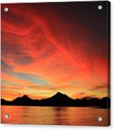 Sunset On Mahoro Acrylic Print